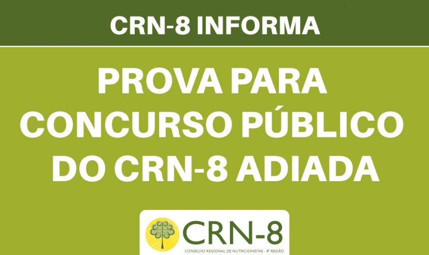 CRN-8 INFORMA – ALTERAÇÃO DE DATAS – CONCURSO PÚBLICO