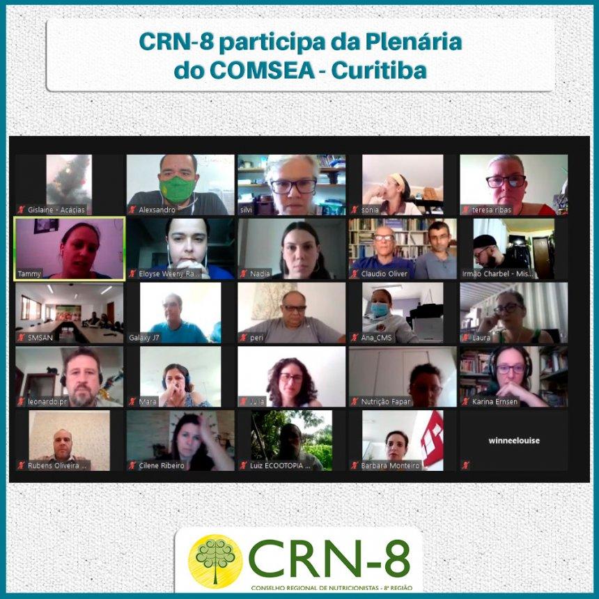 CRN-8 participa da Plenária do COMSEA – Curitiba